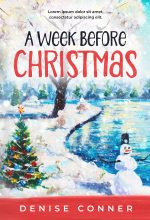 A Week Before Christmas – Illustrated Christmas Premade Book Cover For Sale @ Beetiful Book Covers