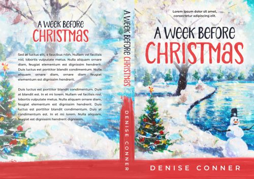 A Week Before Christmas - Illustrated Christmas Premade Book Cover For Sale @ Beetiful Book Covers
