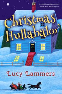 Christmas Hullabaloo - Illustrated Christmas Premade Book Cover For Sale @ Beetiful Book Covers