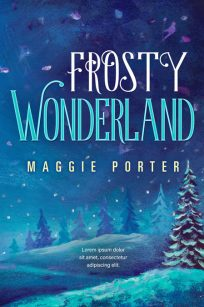 Frosty Wonderland - Illustrated Winter Premade Book Cover For Sale @ Beetiful Book Covers