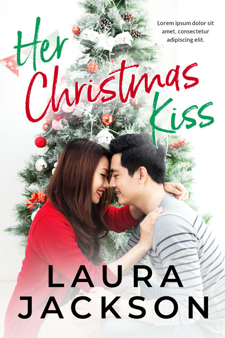 Her Christmas Kiss - Christmas Romance Premade Book Cover For Sale @ Beetiful Book Covers
