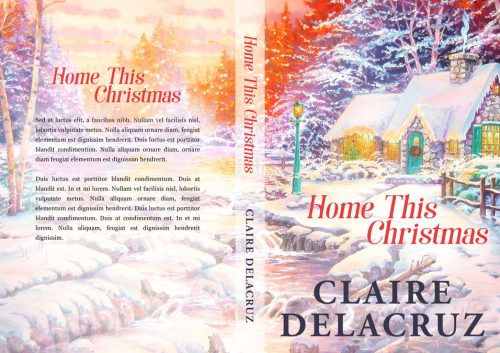 Home This Christmas - Illustrated Winter Premade Book Cover For Sale @ Beetiful Book Covers