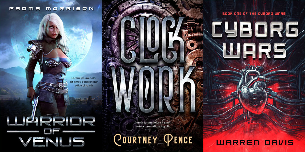 22 New Science-Fiction Premade Book Covers