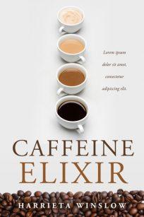 Caffeine Elixir - Non-fIctioin Coffee Premade Book Cover For Sale @ Beetiful Book Covers
