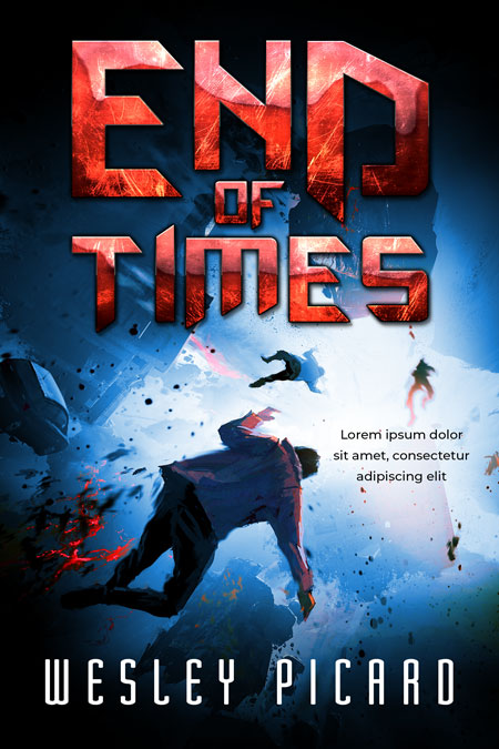 End of Times - Illustrated Science-Fiction Premade Book Cover For Sale @ Beetiful Book Covers