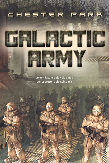 Galactic Army - Science-Fiction Premade Book Cover For Sale @ Beetiful Book Covers