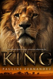 King - Non-fiction Lion Premade Book Cover For Sale @ Beetiful Book Covers