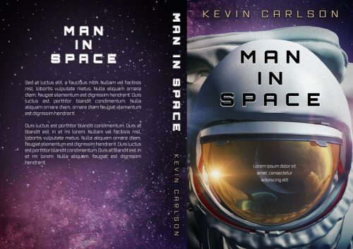 Man In Space - Science-Fiction Premade Book Cover For Sale @ Beetiful Book Covers - Non-fiction Self-Help Premade Book Cover For Sale @ Beetiful Book Covers