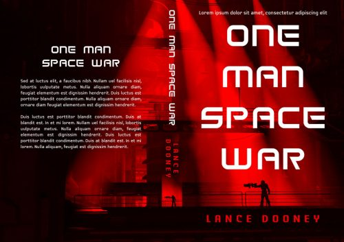 One Man Space War - Science-Fiction Premade Book Cover For Sale @ Beetiful Book Covers