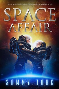 Space Affair - Science-Fiction Premade Book Cover For Sale @ Beetiful Book Covers