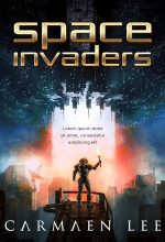 Space Invaders – Illustrated Science-Fiction Premade Book Cover For Sale @ Beetiful Book Covers