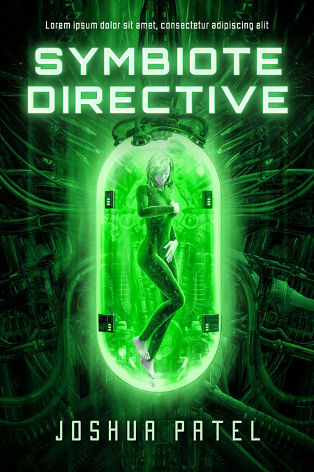 Symbiote Directive - Computer Generated Science-Fiction Premade Book Cover For Sale @ Beetiful Book Covers