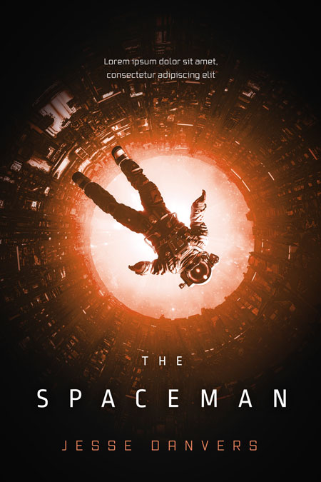 The Spaceman - Science-Fiction Premade Book Cover For Sale @ Beetiful Book Covers