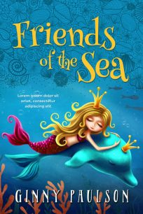 Friends of the Sea - Mermaid Middle-Grade Premade Book Cover For Sale @ Beetiful Book Covers