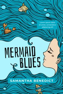 Mermaid Blues - Illustrated Mermaid Premade Book Cover For Sale @ Beetiful Book Covers