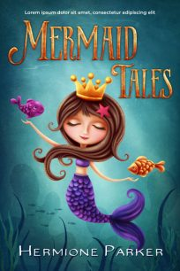 Mermaid Tales - Illustrated Middle-Grade Premade Book Cover For Sale @ Beetiful Book Covers