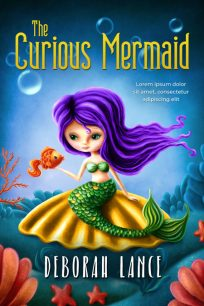 The Curious Mermaid - Illustrated Middle-Grade Premade Book Cover For Sale @ Beetiful Book Covers