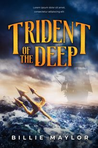 Trident of the Deep - Sea Adventure Premade Book Cover For Sale @ Beetiful Book Covers